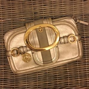 Juicy Couture Gold Leather Clutch